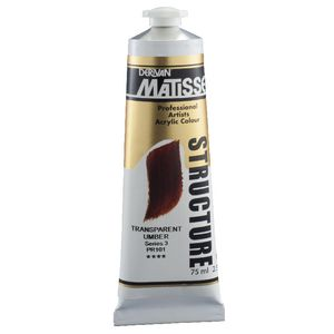 Derivan Structure Paint 75mL Transparent Umber S1