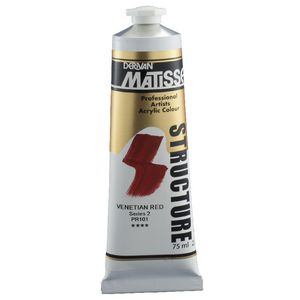 Derivan Structure Paint 75mL Venetian Red S2