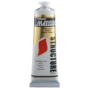 Derivan Structure Paint 75mL Vermilion S3