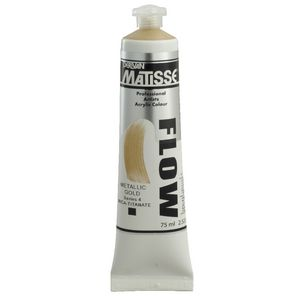 Derivan Flow Paint 75mL Metallic Gold S4