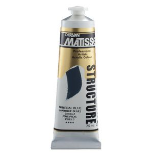 Derivan Structure Paint 75mL Mineral Blue S2