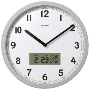 Degree Day, Date, Temperature Clock White