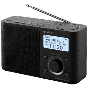 Sony DAB Portable Digital Clock Radio Black