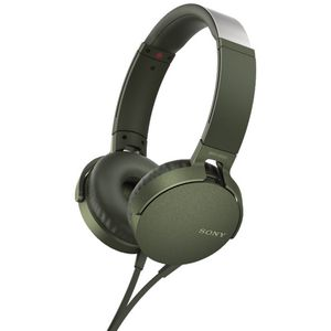 Sony Extra Bass Headphones Green