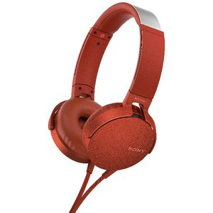 Sony Extra Bass Headset Red