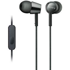 Sony Earphones with Remote Black EX155AP