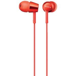 Sony Earphones with Remote Red