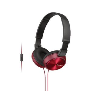 Sony Smartphone Headphones Red ZX310