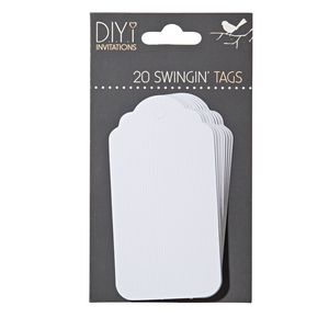 DIYi Swingin' Tag White or Kraft 20 Pack