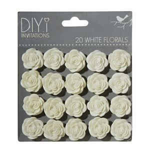 DIYi White Florals 20 Pack