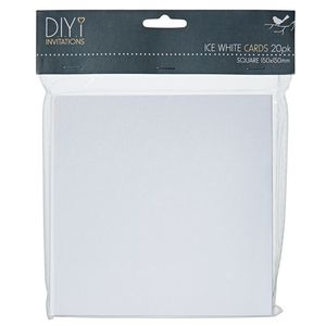 DIYi Folded Square Cards Pearl Ice White 20 Pack