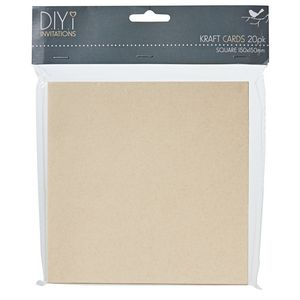 DIYi Folded Square Cards Kraft 150 x150mm