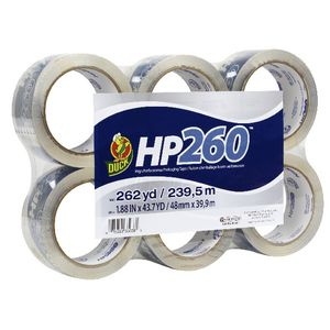 Duck HP260 Packaging Tape Clear 48mm x 40m 6 Pack