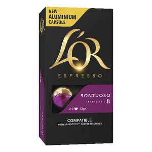 L'OR Espresso Coffee Capsules Sontuoso 10 Pack