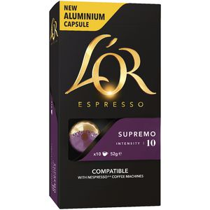 L'OR Espresso Coffee Capsules Supremo 10 Pack