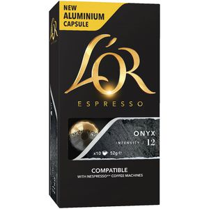 L'OR Espresso Coffee Capsules Onyx 10 Pack