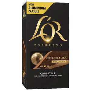 L'OR Espresso Coffee Capsules Colombia 10 Pack