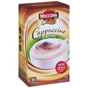 Moccona Strong Cappuccino Sachets 10 Pack