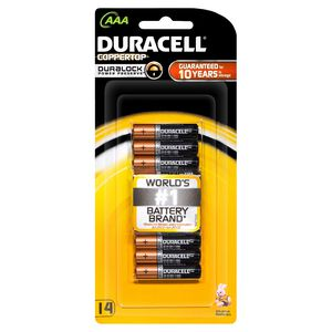 Duracell Coppertop AAA Batteries 14 Pack