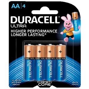 Duracell Alkaline Ultra Batteries AA 4 Pack