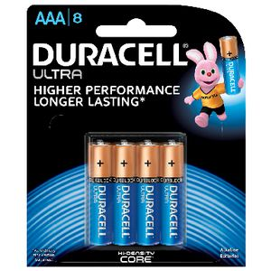 Duracell Alkaline Ultra Batteries AAA 8 Pack
