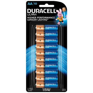 Duracell Alkaline Ultra Batteries AA 10 Pack