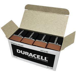 Duracell Coppertop 9V Batteries 12 Pack