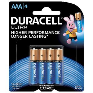 Duracell Ultra AAA Batteries 4 Pack