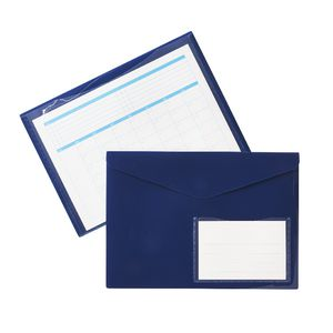 Document Wallet A4 Magnetic Closure Navy