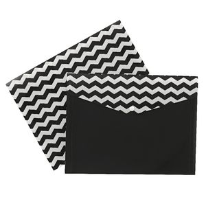 Document Wallet A4 Printed PP Black and White