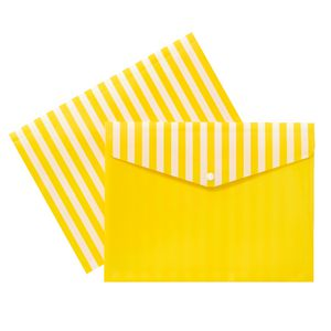 Document Wallet A4 Printed PP Yellow and White