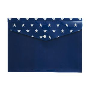 Otto Document Wallet A4 Printed PP Navy Stars