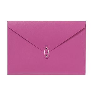 A4 Luxe Document Wallet with String Closure Pink