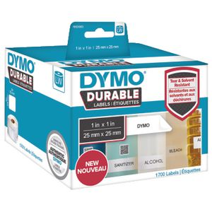 DYMO LW Durable Labels 25 x 25mm White Poly 1700 Pack