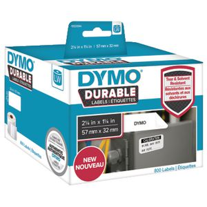 DYMO LW Durable Labels 57 x 32mm White Poly 800 Pack