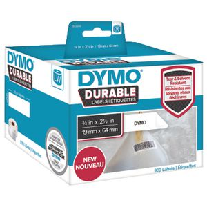 DYMO LW Durable Labels 19 x 64mm White Poly 900 Pack