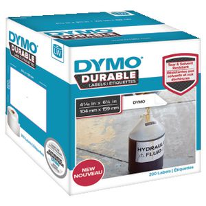 DYMO LW Durable Labels 104 x 159mm White Poly 200 Pack