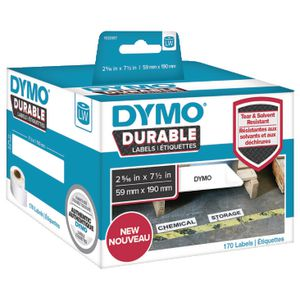 DYMO LW Durable Labels 59 x 190mm White Poly 170 Pack