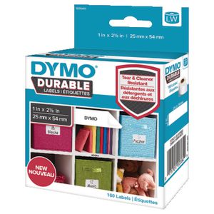 DYMO LW Durable Labels 25 x 54mm White Poly 160 Pack