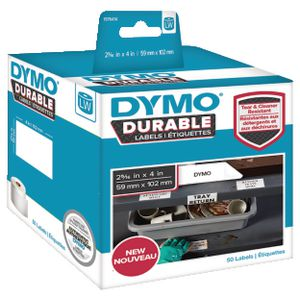 DYMO LW Durable Labels 59 x 102mm White Poly 50 Pack