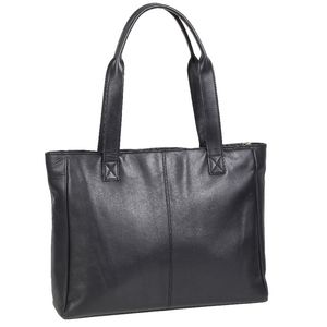 Ampersand Leather Tote Bag Black