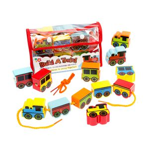 Educational Colours Train Threading Beads