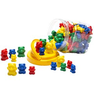 Educational Colours Counting Bears Jar 96 Pack