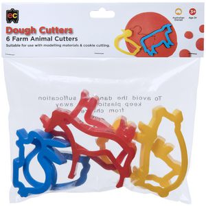Educational Colours Animal Dough Cutters 6 Pack