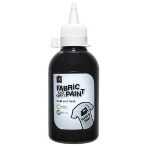 Educational Colours Fabric Craft Paint 250mL Black