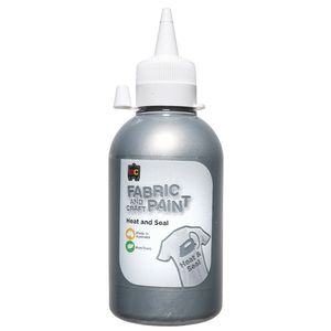 Educational Colours Fabric Craft Paint 250mL Silver