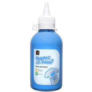 Educational Colours Fabric Craft Paint 250mL Sky Blue