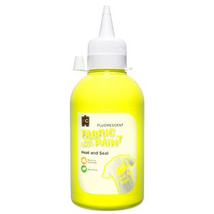 Educational Colours Fabric Craft Paint 250mL Fluoro Yellow