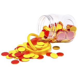 Educational Colours Counters Red/Yellow 200 Pack