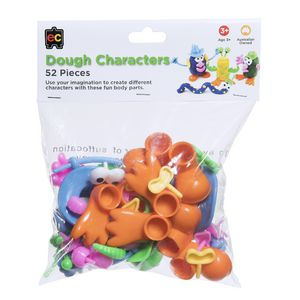 Educational Colours People Dough Cutters 52 Pack